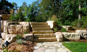 Limestone steps outcroppings